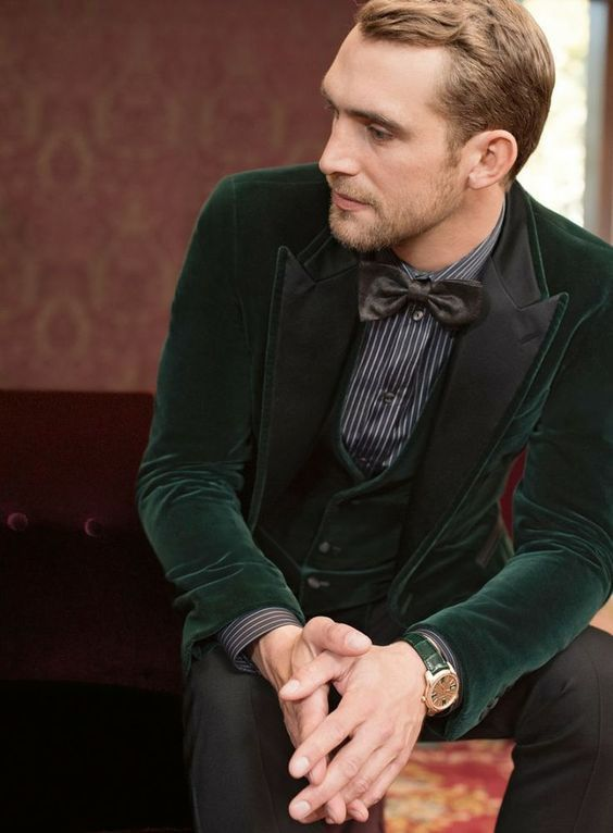 trouwlook-man-casual-chic-groen-velvet