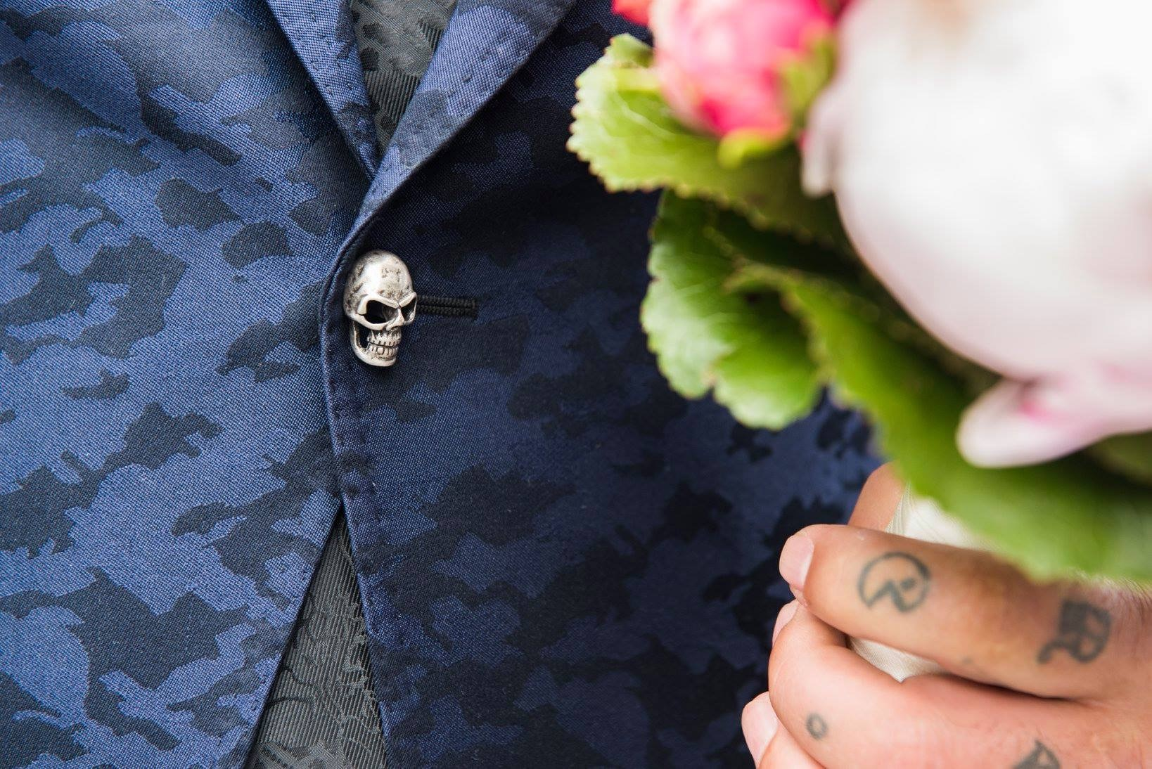 Stoer trouwpak man - Skull buttons - Suits at Sea - Trouwpakken