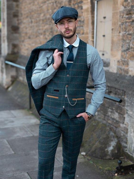 peaky blinders petrol trouwkleding man kopen - suits at sea