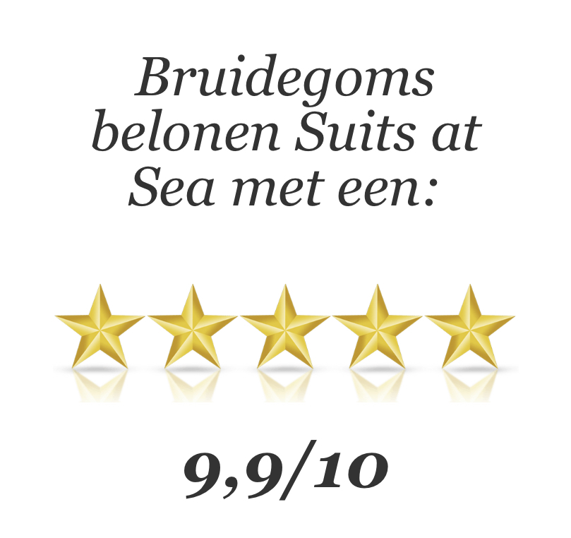 Review beoordeling Suits at Sea Trouwpakken - beloning bruidegoms